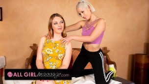 She Massages Her Stepmom To Fuck With Her